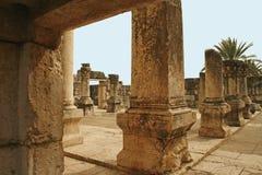 capernaum以色列犹太教堂 免版税库存图片
