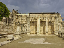 Capernaum犹太教堂在以色列 库存图片