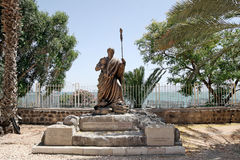 Capernaum 圣皮特圣徒・彼得雕象  免版税库存照片