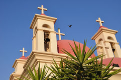 Capernaum Kirchekreuze. Lizenzfreies Stockbild