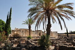 Capernaum on the sea of Galilee Israel Royalty Free Stock Photos