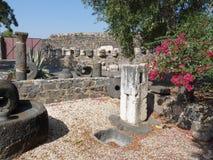 Capernaum - stad van Jesus Royalty-vrije Stock Foto
