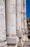 Capernaum Synagoge Stockfoto