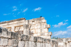 Capernaum-Synagoge Lizenzfreies Stockfoto