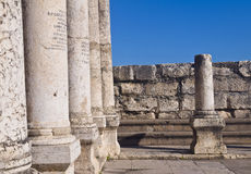 Capernaum synagogue Royalty Free Stock Photography