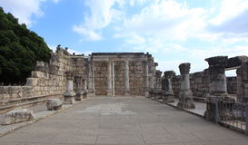 Capernaum Synagogue Frontal View, Israel Royalty Free Stock Photo