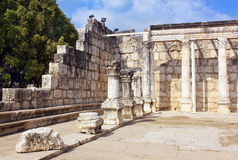 Capernaum synagogue on the Sea of Galilee, Israel Royalty Free Stock Image