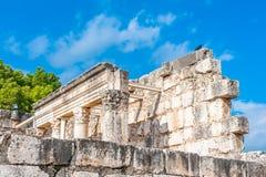 Capernaumsynagoge stock afbeelding
