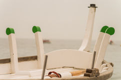 Caperol e Maniqueta, dettaglio della barca la Senna Immagine Stock