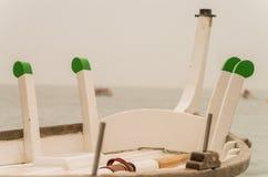 Caperol und Maniqueta, Detail des Bootes die Seine Stockbild