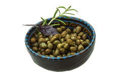 Capers in the bowl Stock Images