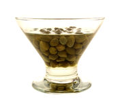 Capers Dish Side View Stock Images
