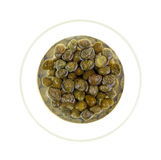 Capers Dish Top View Stock Photos