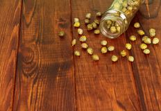 Capers in glass Royalty Free Stock Image