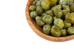 Capers isolated on white Royalty Free Stock Photography