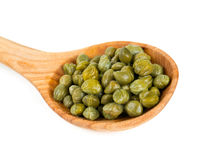 Capers isolated on white Stock Photos