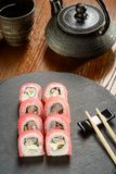 Capers rolls and chopsticks Royalty Free Stock Photography
