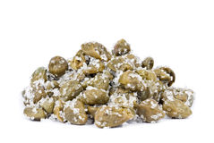 Capers in Salt Stock Photo