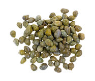 Capers on White Top View Stock Photo