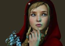 Caperucita Rojo 3d CG Fotos de archivo libres de regalías