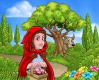 Caperucita Rojo y Wolf Scene Imágenes de archivo libres de regalías