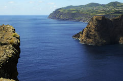 Capes and gulfs. In the Sao Jorge island. Azores archipelago stock photo
