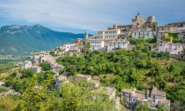Capestrano L `-Aquila landskap, Abruzzo Italien Arkivfoto