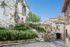 Capestrano L `-Aquila landskap, Abruzzo Italien Royaltyfri Foto
