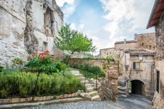Capestrano, province of L`Aquila, Abruzzo, Italy. royalty free stock images