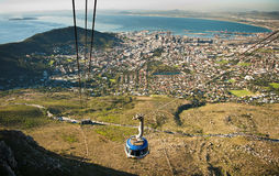 Capetown Cable way South Africa Royalty Free Stock Photos