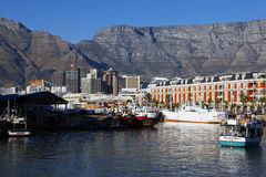 Capetown harbor views at sunset, South Africa Stock Images