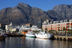 Capetown harbor views at sunset, South Africa Stock Photography