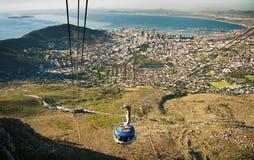 Capetown kabelväg Sydafrika Royaltyfria Foton