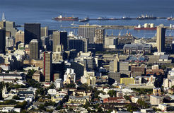 Capetown - South Africa. High level view of Capetown in South Africa Stock Photo