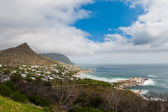 Capetown South Africa. A view from Chapmans peak road in Capetown stock images