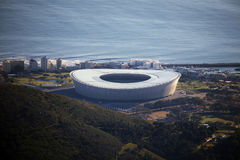 Capetown stadium views from the Tabletop Mountain, South Africa Royalty Free Stock Photos