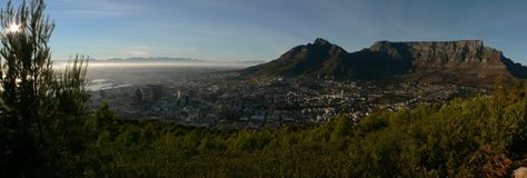 Capetown Sunrise. A panorama after sunrise in Cape Town Royalty Free Stock Images