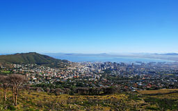 Capetown and Table Bay(South Africa). Panoramic view of Capetown and Table Bay(South Africa Stock Photos