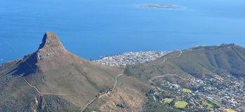 Capetown from Table Mountain. Stock Photo