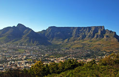 Capetown and Table Mountain(South Africa). General view of Capetown and Table Mountain(South Africa stock photography