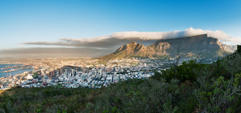 Capetown Table Mountain South Africa. A Sunrise image of the Capetown city South Africa Royalty Free Stock Photography