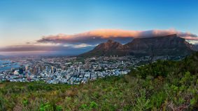 Capetown Table Mountain South Africa. A sunset image of the Capetown city South Africa royalty free stock images
