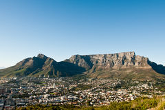 Capetown Table Mountain South Africa. A sunset image of the Capetown city South Africa royalty free stock image
