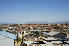 Capetown townships. Townships in cape town South Africa royalty free stock image