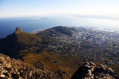 Capetown views from the Tabletop Mountain, South Africa Stock Photo