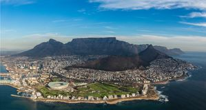 Capetown z góry obrazy royalty free