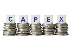 CAPEX - Förvärv av fast kapital Arkivbilder
