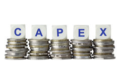 CAPEX - Gastos en inversión de capital Imagenes de archivo