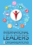 Capi e fondo internazionali di organizzazioni royalty illustrazione gratis