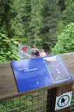 Capilano Bridge Sign Royalty Free Stock Images